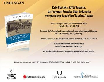 """Diskusi Buku """"Serdadu Belanda di Indonesia, 1945-1950″"""
