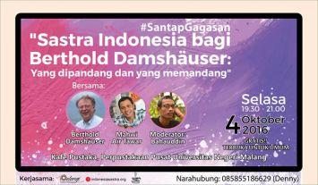 Sastra Indonesia Bagi Berthold Damshäuser: yang dipandang dan yang memandang