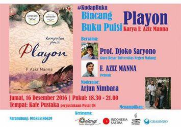 Bincang Buku Puisi Playon karya F Aziz Manna