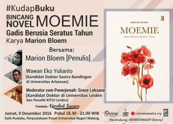 Bincang Novel MOEMIE Gadis Berusia Seratus Tahun Karya Marion Bloem