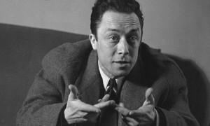 Lots to debate … Albert Camus during a visit to London in 1952. Photograph: Kurt Hutton/Getty Images